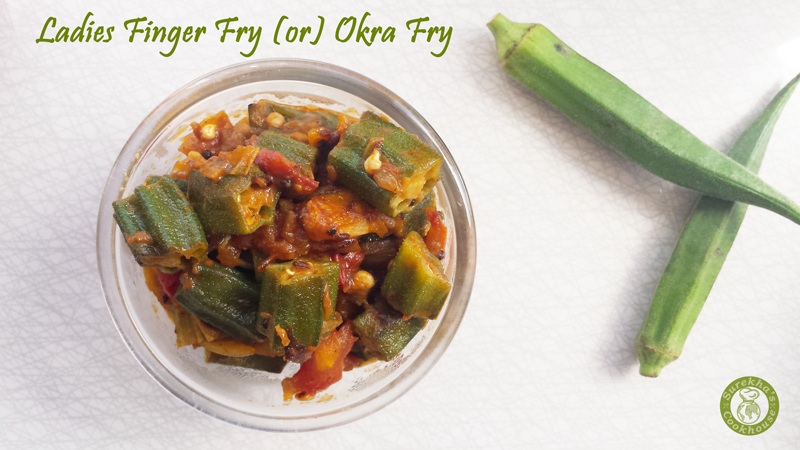 Ladies-Finger-Fry-(or)-Okra-Fry-(or)-Vendakkai-Thokku
