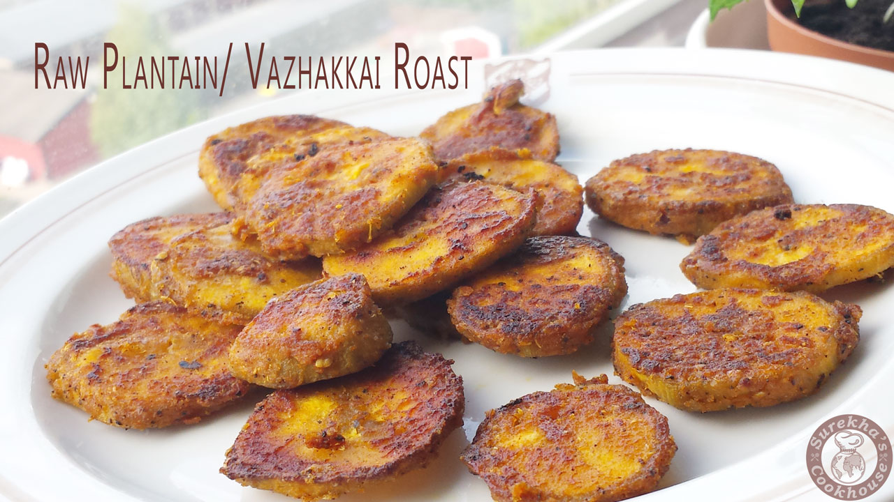 Raw-Plantain-Roast-(or)-Vazhakkai-Varruval
